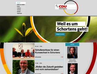 cdu-schortens.de screenshot