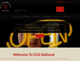 ceanational.org screenshot