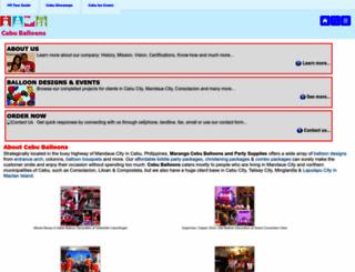 cebuballoons.com screenshot