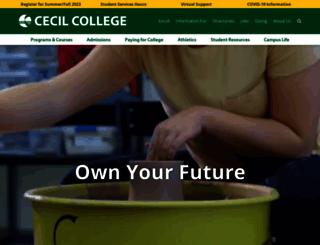 cecil.edu screenshot