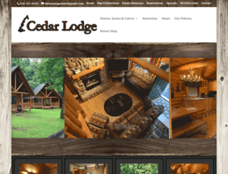 cedarlodgedells.com screenshot