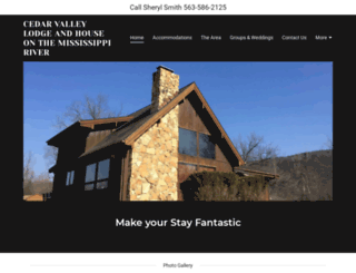 cedarvalleylodge.com screenshot