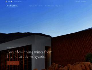 cederbergwine.com screenshot