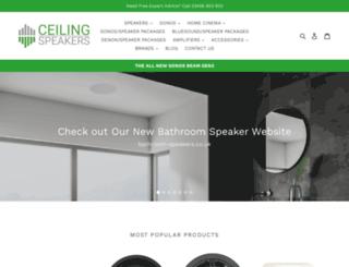 ceiling-speakers.co.uk screenshot