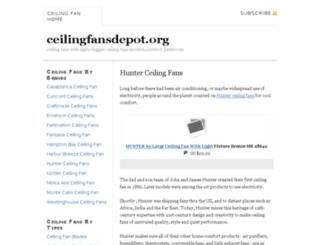 ceilingfansdepot.org screenshot