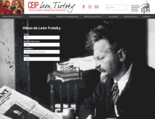 ceipleontrotsky.org screenshot