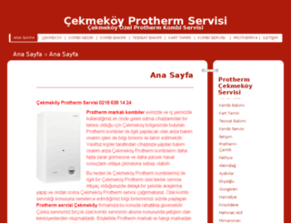 cekmekoyprothermservisi.org screenshot