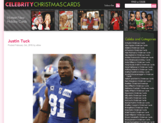 celebritychristmascards.com screenshot