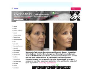 celebritydermatologist.org screenshot