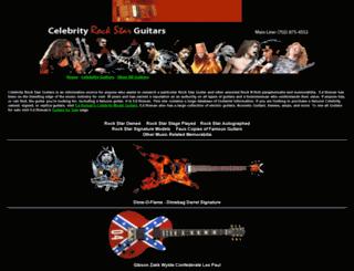 celebrityrockstarguitars.com screenshot
