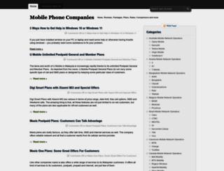 cellphone-companies.com screenshot