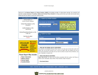 cellphoneregistry.com screenshot