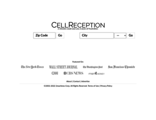 cellreception.com screenshot