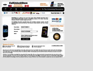 cellunlockstore.com screenshot