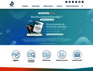 ceneval.edu.mx screenshot