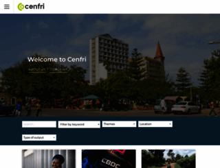 cenfri.org screenshot