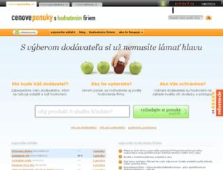 cenoveponuky.sk screenshot