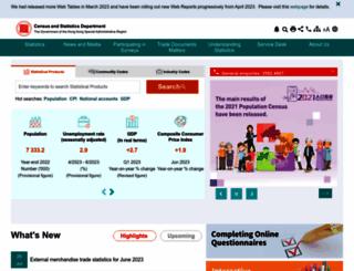 censtatd.gov.hk screenshot