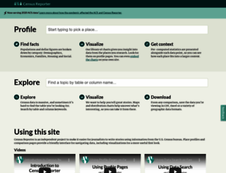 censusreporter.org screenshot