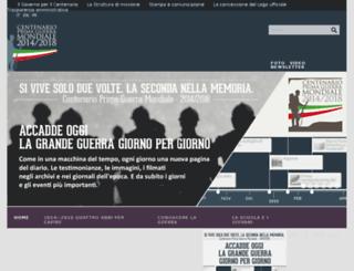 centenario1914-1918.it screenshot