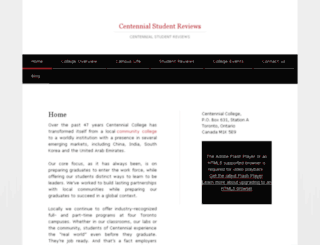 centennialstudentreviews.ca screenshot