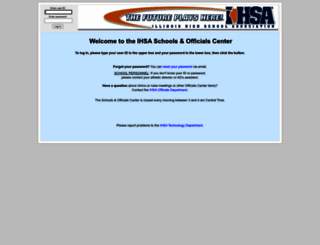 center.ihsa.org screenshot
