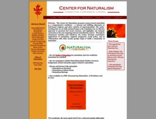 centerfornaturalism.org screenshot