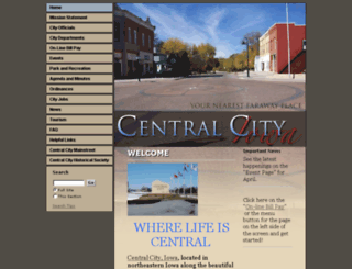 centralcityia.govoffice2.com screenshot
