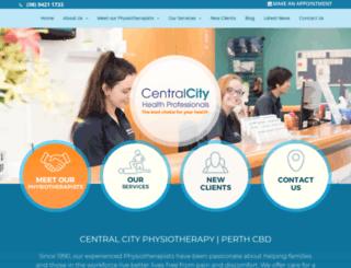 centralcityphysio.com.au screenshot