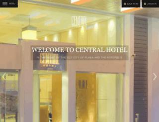 centralhotel.gr screenshot