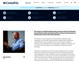 centralnic.com screenshot