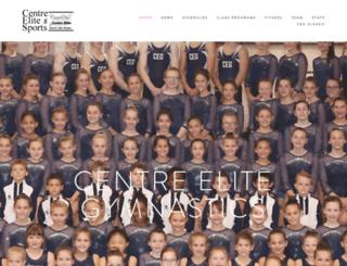 centreelitegymnastics.com screenshot