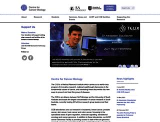 centreforcancerbiology.org.au screenshot