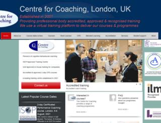 centreforcoaching.com screenshot