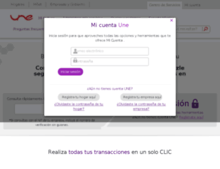 centrodeservicios.une.com.co screenshot