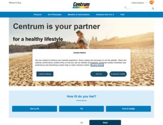 centrum.co.uk screenshot