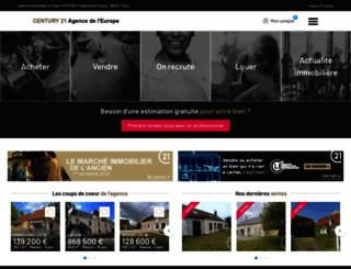 century21agencedeleurope.com screenshot