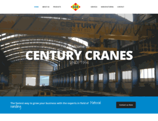 centurycranes.com screenshot