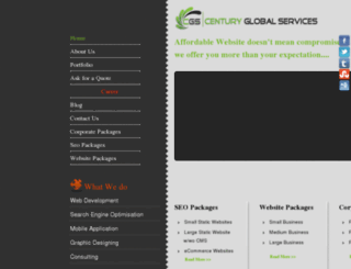 centuryglobalservices.com screenshot