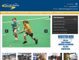 centurysports.com.au screenshot