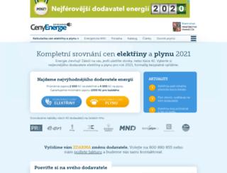 cenyenergie.cz screenshot