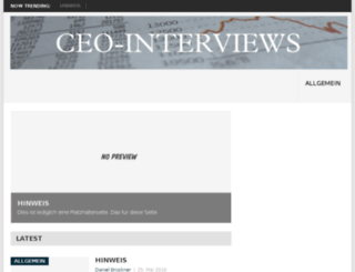 ceo-interviews.de screenshot