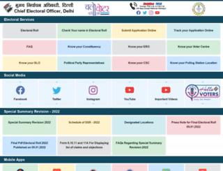 ceodelhi.nic.in screenshot