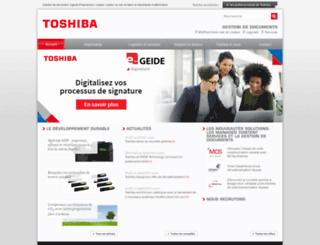 ceprho.toshiba.fr screenshot