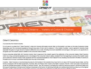 ceramicaorient.com screenshot