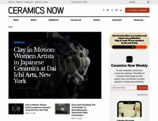 ceramicsnow.org screenshot