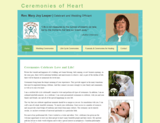ceremoniesofheart.com screenshot