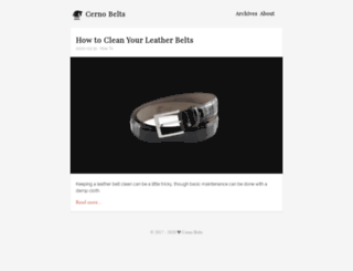 cerno-belts.com screenshot