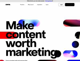 ceros.com screenshot