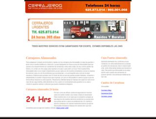 cerrajerosalmussafes.es screenshot